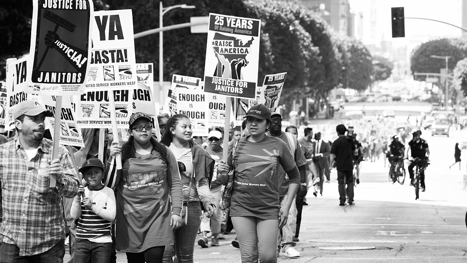 "Janitors Say ""Ya Basta!"" ""Enough!"" to Hazardous Working Conditions, Poverty Wages, and Abuses Ranging From Wage Theft to Sexual Harassment and Assault"