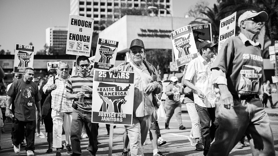 """Janitors Say """"Ya Basta!"""" """"Enough!"""" to Hazardous Working Conditions, Poverty Wages, and Abuses Ranging From Wage Theft to Sexual Harassment and Assault"""